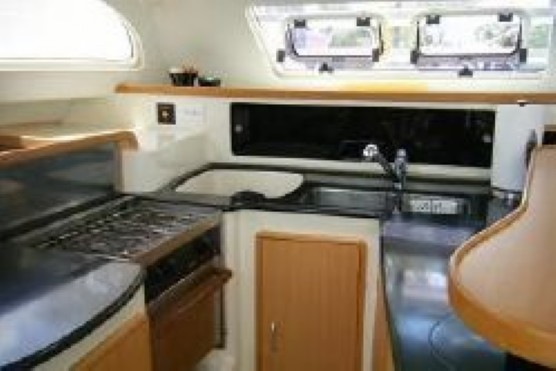 Preowned Sail Catamarans for Sale 2006 Leopard 43  Galley